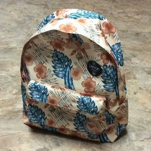 Tan tropical Roxy backpack NWT!